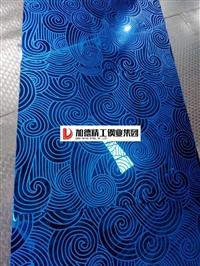 寶石藍蝕刻不銹鋼板-蝕刻花紋鍍鈦板,浪花蝕刻顏色板電梯蝕刻