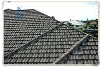 德州彩石金属瓦斜屋面平改坡 买好瓦就选圣戈邦