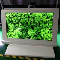 东莞惠华厂家直销49寸三角形透明液晶展示柜、橱窗触摸展柜