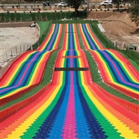 游樂場景區彩虹滑道 七彩滑道 好玩不過時 廠家一站式服務
