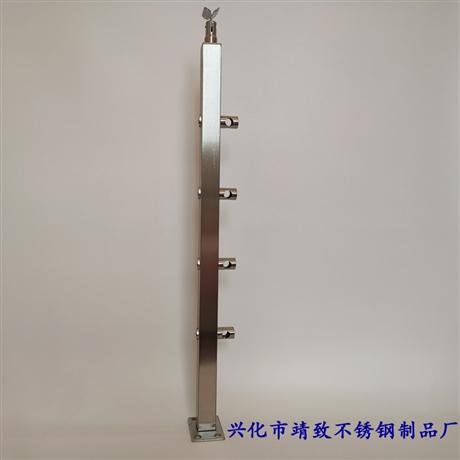 工程安装用304不锈钢楼梯立柱护栏