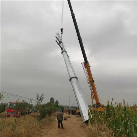 12.5米45度转角电力钢杆 直线耐张电力钢杆塔 钢桩基础