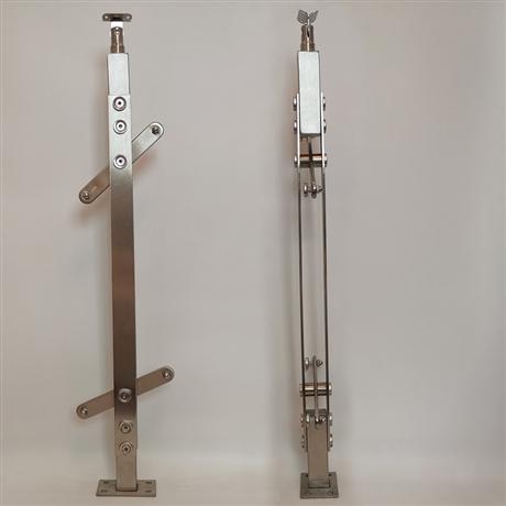 sus304不锈钢立柱 定制工程楼梯立柱 阳台不锈钢楼梯扶手