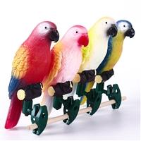 太阳能发光鹦鹉景观灯 发光小鸟观赏灯 夜光小鸟灯 树木装饰灯