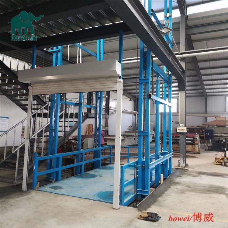上海导轨链条液压升降货梯