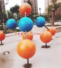 鸿景304不锈钢篮球雕塑 不锈钢足球标志雕塑