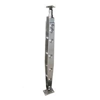 菱形穿拉丝不锈钢立柱 304不锈钢楼梯扶手 定制楼梯立柱栏杆