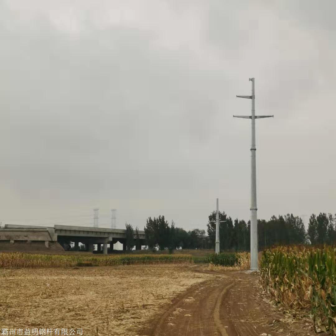郑州110千伏电力钢杆生产厂家 12米耐张钢管杆