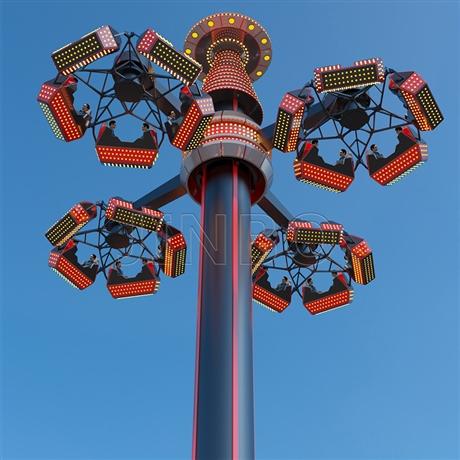 公园大型旋转类高空赏月游乐设备