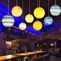 LED星球燈 空星吊球燈 創意簡約戶外裝飾燈 防水PE創意圓球燈