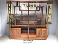 博古架 实木中式南榆木古董架家具 茶叶茶室展示柜置物