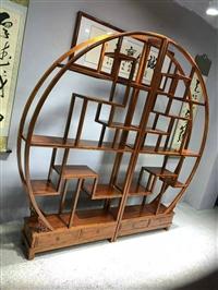 新中式博古架实木中式书架置物架