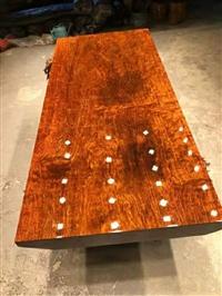 巴花实木大板茶桌原木总裁桌老板