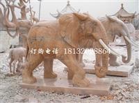 朝霞红大年夜象公园植物雕塑