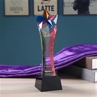 新款創意水晶獎杯  一帶一路中國夢獎杯  周年紀念品獎杯