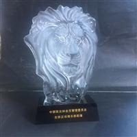 獅子頭協會水晶獎杯  新加坡魚尾獅模型  廣州五羊雕像紀念品