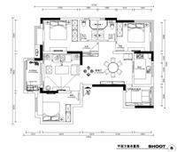 中鐵原香頌120平三室兩廳裝修設計-南京新愛華裝飾