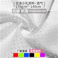 福建经编厂家 170g有光洞洞布 全涤针织网眼布 运动服装网布