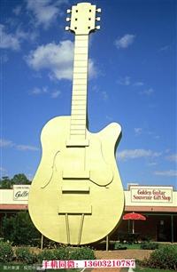小吉他乐器雕塑摆件,乐器雕塑制作厂家,欧景雕塑