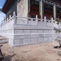 寺廟石欄桿  青石欄桿  青石抱鼓石加工  石欄桿價格
