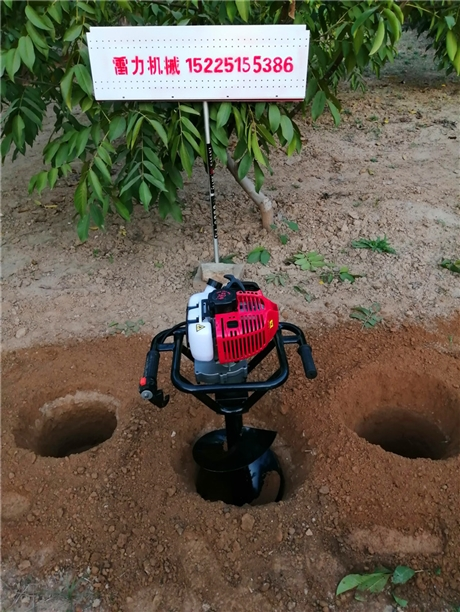 种植挖坑机钻孔打洞轻量化
