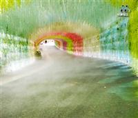 户外餐厅 雾景观设施