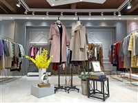 廣州明浩供應 19年新款雙面羊絨大衣歌爾莉 品牌折扣女裝批發貨源