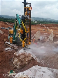 挖改钻机大理石矿山开采、石英硅矿镁矿石机械破碎、花岗岩石分裂