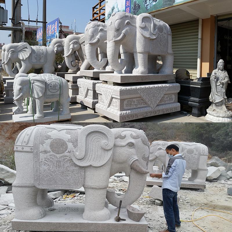 专业石大年夜象 批发雕刻大年夜象  惠安石雕