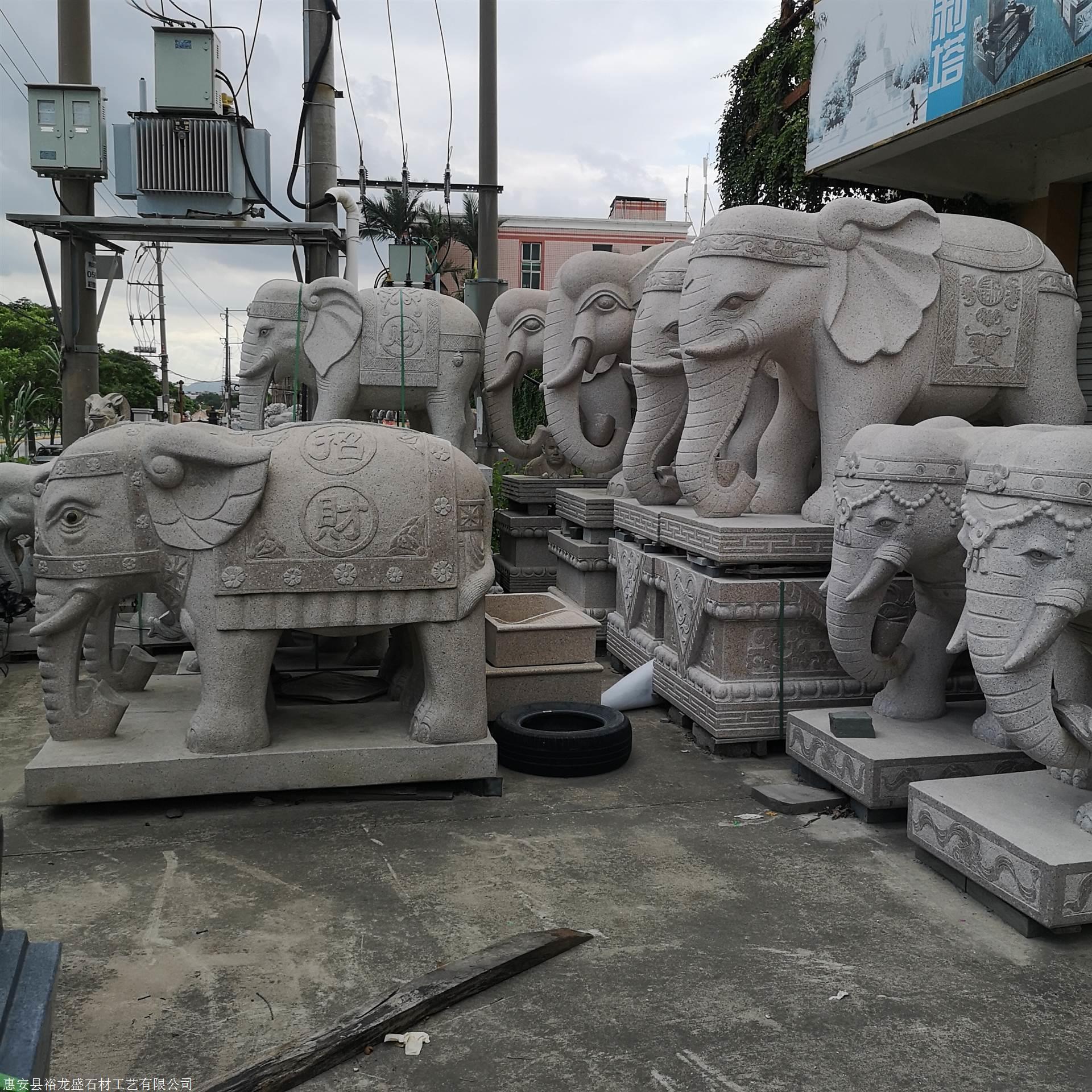 2.18米高绣石石雕大年夜象石大年夜象一对汉白玉大年夜象厂家定制石雕大年夜象厂家