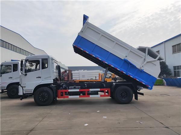 拉10吨干粪污粪清运车-10方粪污运输车价格
