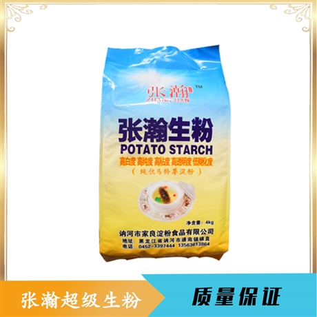 土豆淀粉家用 食用裹粉勾芡淀粉 张瀚土豆生粉4kg
