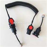 SC ebs螺旋电源线,15芯柔性电缆/螺旋形柔性电缆总成