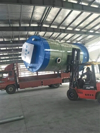 陜西GRP玻璃鋼一體化泵站現場施工