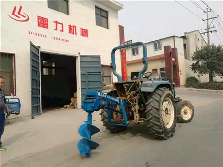 拖拉机打孔机钻坑挖树窝提速30倍