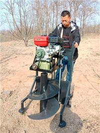 手推升降款种树挖坑机的价格