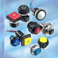 16mm带灯金属按钮开关型号IRP1F462进口IP67防水按键
