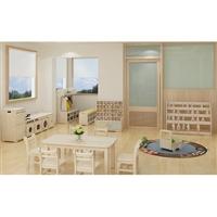 儿童家具_幼儿园实木家具_学习桌椅-绿森堡厂家定做