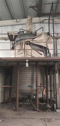 出售二手不锈钢反应釜 6立方内外盘管不锈钢反应釜