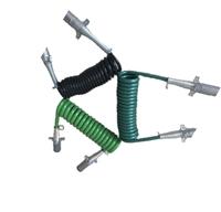 SC挂车七芯电缆线总成/驾驶室线束,半挂车、牵引车-螺旋电源线