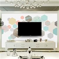 福建省千彩装饰3D电视沙发背景墙个性定制壁画无缝墙布