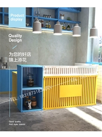 品牌冷饮店服务台批发价格 吉安泰和奶茶店白色吧台
