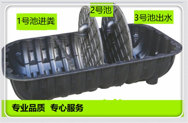 河南PE塑料三格式化粪池厂家