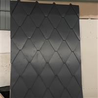 鱼鳞板价格250型0.9mm厚铝镁锰板菱形平锁扣屋面瓦