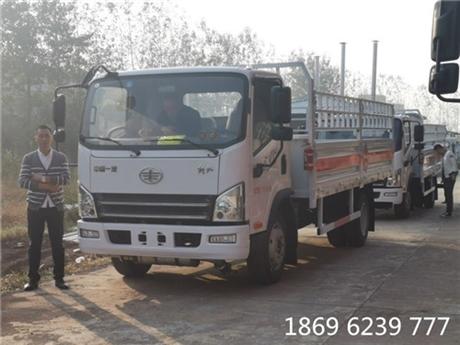 包头气瓶车经销商电话 解放5.15米7.9吨气瓶运输车厂家