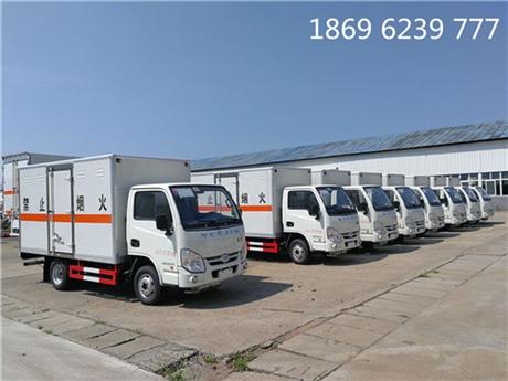 国六易燃气体厢式运输车,四川客户买车不易错过