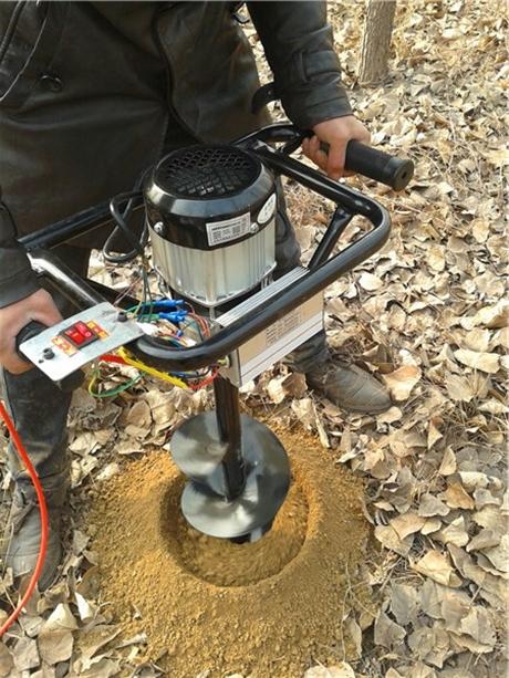 汽油地钻手提式挖孔利器