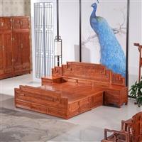 北京榆木床價格一般多少實木雙人床