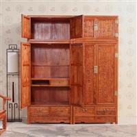 山西榆木家具衣柜實木衣柜