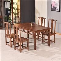 香河老榆木餐桌椅实木餐桌多少钱